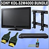 Sony Bravia M-Series KDL-32M4000 32-inch 720P LCD HDTV + Sony DVD Player w/ Wall Mount Accessory Kit