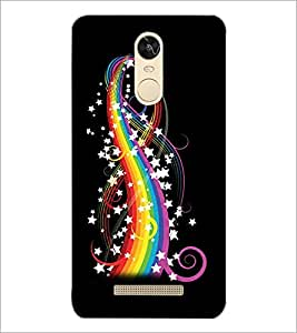 PrintDhaba Rainbow colours and Stars D-2240 Back Case Cover for XIAOMI REDMI NOTE 3 PRO (Multi-Coloured)