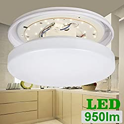LE® 12W 11-Inch LED Ceiling Lights, Waterproof IP44, 100W Incandescent (22W Fluorescent) Bulbs Equivalent, 950lm, 3000K, Warm White, Round Flush Mount Lighting, Ceiling Lighting for Bathroom, Kitchen