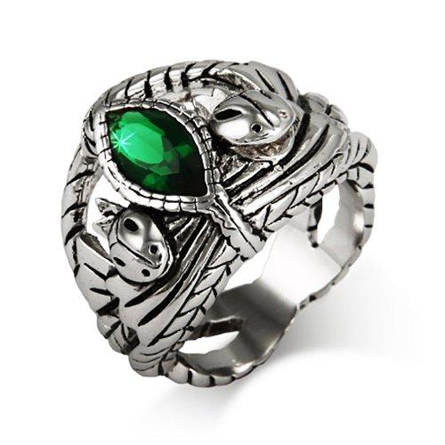 Fiery Green CZ Ring