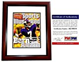 Randall Cunningham Signed - Autographed Minnesota Vikings 1998 Original Sports Illustrated Cover MAHOGANY CUSTOM FRAME - Certificate of Authenticity (COA) - PSA/DNA Certified