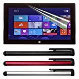Skque Anti Scratch Screen Protector + 3 pcs stylus pen for Microsoft Surface RT Tablet