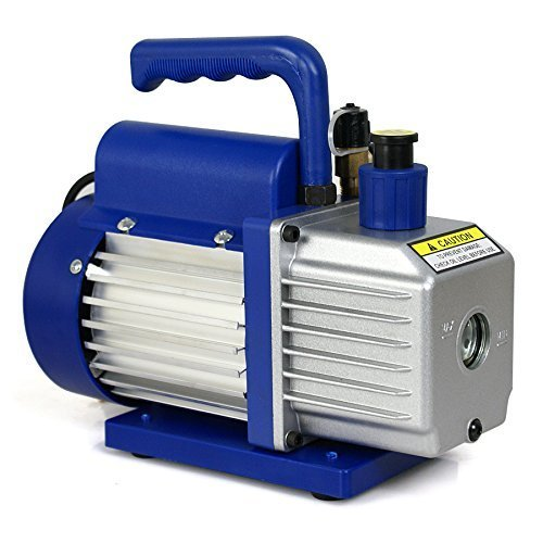 Smartxchoices 3,5 CFM 1/4HP Single-Stage Rotary Vane Deep Vacuum Pump 3 CFM HVAC Air Tool R410a,Blue (VP 125+,110V) (Rotary Vane Vacuum Pump Oil compare prices)