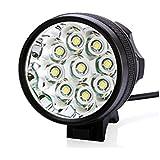 KINGTOP 15000 Lumen 9xCREE XM-L LED 9T6 Fahrradlicht Stirnlampe Stirnleuchte Kopflampe Fahrradlampe Sport MTB wasserdicht wiederaufladbar Beleuchtung Nachtlicht HeadLight mit kostenlos Rücklicht