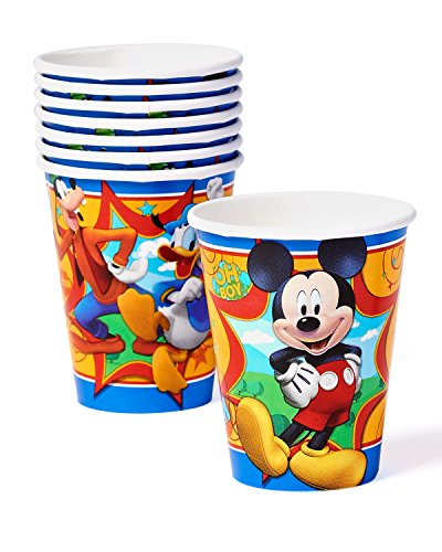 American Greetings Mickey Mouse Clubhouse 9 oz. Paper Party Cups, 8 Count, Party Supplies Novelty - 1