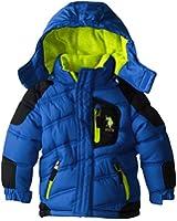 U.S. Polo Association Little Boys' Poly-Fill Bubble Jacket with Hood