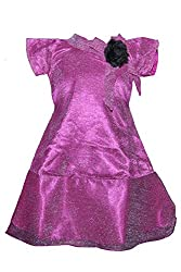 Softouch Girls' Frock (Purple_2-3 Years)