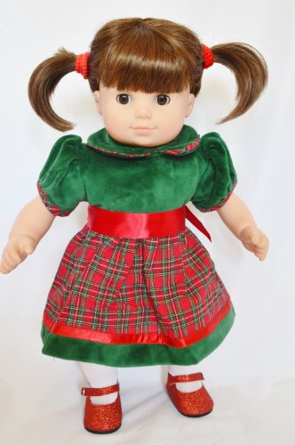PLAID DRESS FOR AMERICAN GIRL BITTY TWINS