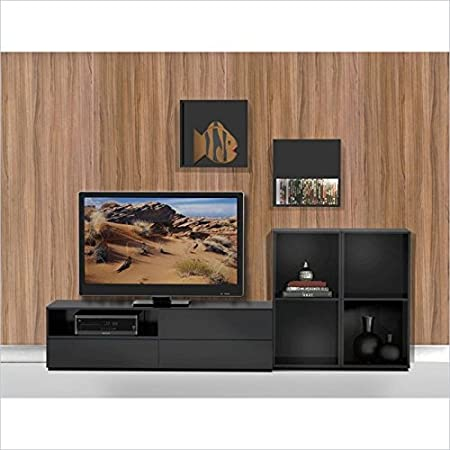 Avenue TV Stand Kit with 2 Open Storage Units & Decorative Wall Cubes