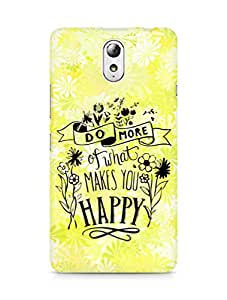 AMEZ do more of what makes you happy Back Cover For Lenovo Vibe P1M
