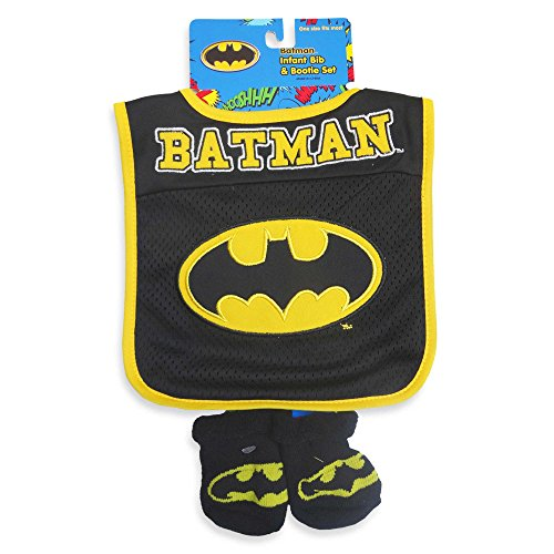 batman set bavoir et chaussons par dc comics. Black Bedroom Furniture Sets. Home Design Ideas
