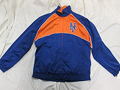 New York Mets Mens Full Zip Embroidered Track Jacket ANYM 9 M L XL