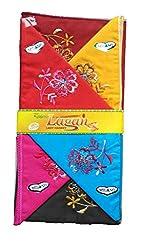 Milano Dark colour Cotton handkerchiefs for women - Pack of 6 pcs