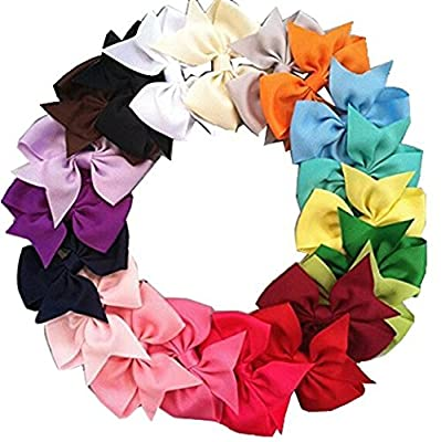 Boutique Hair Bows Girls Kids Children Alligator Clip Grosgrain Ribbon Headbands