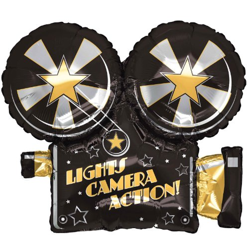 Betallic 85373P Lights Camera Action Balloon Pack, 32""