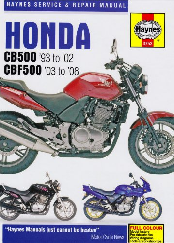 Honda CB500 and CBF500 Twins Service and Repair Manual: 1991 to 2008 (Haynes Service and Repair Manuals)