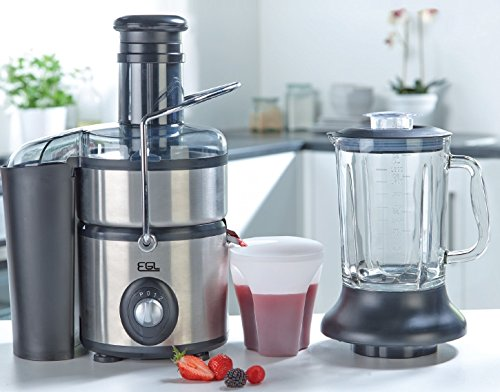 EGL 2-in-1 Stainless Steel Juicer Glass Jug Blender For Sale