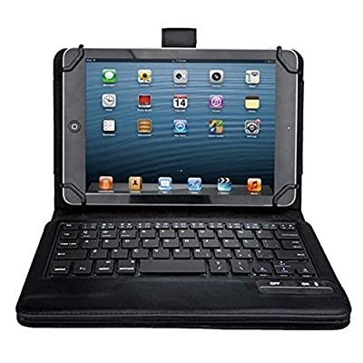 "iClever® Universal Bluetooth Keyboard Case Cover For 7"" 8"" 7.9"" inch Tablet PU Leather, including iPad Mini, 2 ; Samsung Galaxy Tab3, Tab 4; Google Nexus 7; Dell Venue 8 Pro; Acer Iconia Tab A100 from iClever"