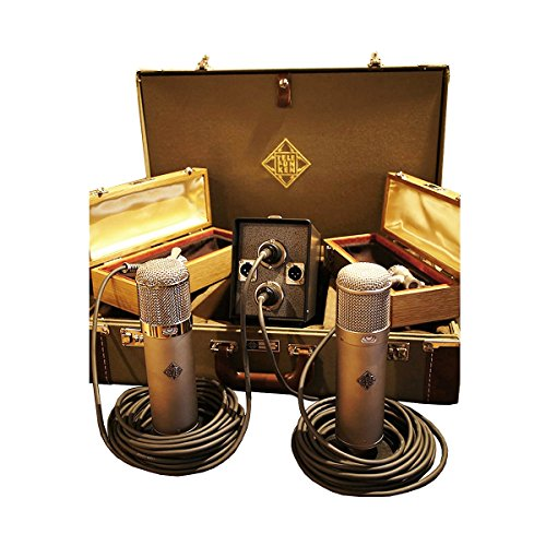 Telefunken Elektroakustik U48 Stereo Set | Multi Pattern Vf-14K Tube Condenser Microphone Cardioid Set Bidirectional Capsule Capabilities