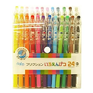 Pilot Frixion Erasable Color Pencils Like Gel Ink Pen 0.7mm 24 Colors (japan import)