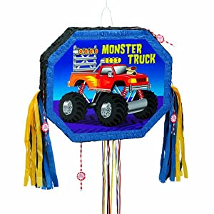 "Monster Truck Pinata, Pull String 17"" x  20.25"""