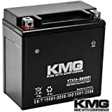 KMG® Honda 350 TRX350 Rancher 2000-2006 YTX14-BS Sealed Maintenace Free Battery High Performance 12V SMF OEM Replacement Maintenance Free Powersport Motorcycle ATV Scooter Snowmobile KMG