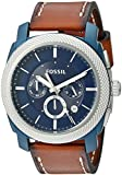 Fossil Men's Quartz Stainless Steel and Leather Casual Watch, Color:Brown (Model: FS5232)