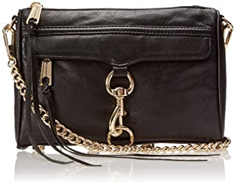 Rebecca Minkoff Mini MAC Convertible Crossbody,Black,One Size