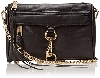 Rebecca Minkoff Mini MAC Convertible Cross-Body Handbag,Black,One Size