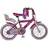 Cosmic Kids Junior Y-Frame Drag Racer Bike Princess 16 Inch Painted Wheels Girls