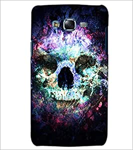PrintDhaba Skull D-4882 Back Case Cover for SAMSUNG GALAXY ON 5 (Multi-Coloured)