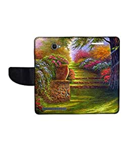 KolorEdge Printed Flip Cover For Alcatel One Touch Flash Multicolor - (1479-55KeMLogo11046AlcatelFlash)