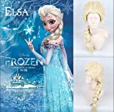 HILISS Cosplay Costume Wig Party Hair Extension for Disney Movies Frozen Snow Queen Elsa (Light Blonde)