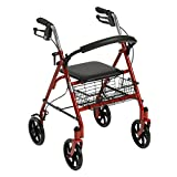 Drive Medical Four Wheel Rollator with Fold Up Removable Back...