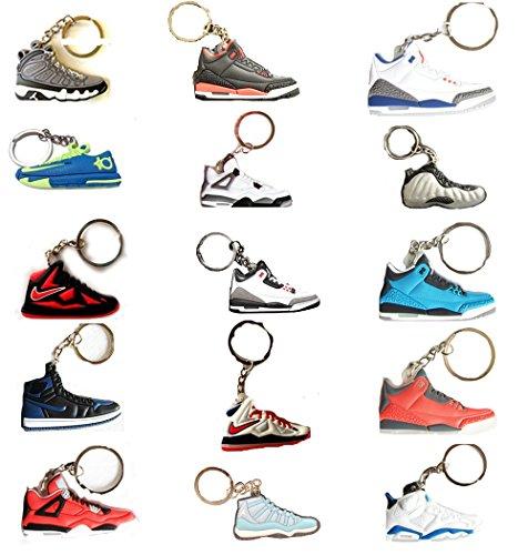 15 Pairs - Air Jordan Michael Jordan Shoe Game Basketball Jumpman Key Chain Choose your own Pack (Jordan Keychain Shoe compare prices)