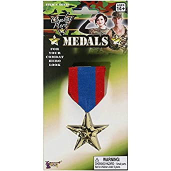 Forum Novelties Inc Unisex Adult Army Single Star Medal