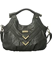 Dark Grey Vitalio Vera 'Rossana' Cross-Body Hobo