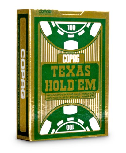 Copag Poker Size Jumbo Index Texas Holdem Playing Cards (Single Black Deck) - 1