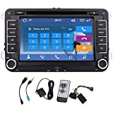 Pupug Wince 8.0 7 Inch Double Din HD Touch Screen Car DVD Player For VW Jetta 2010-2012 In Dash GPS Navigation...