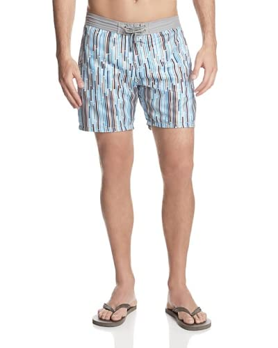 Mr. Swim Men's Dripping Stripes Board Shorts