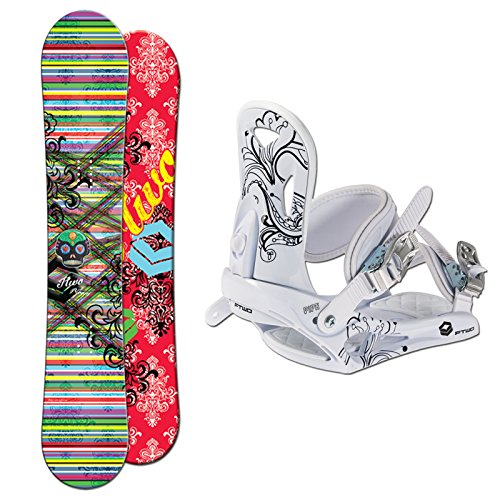 FTWO Damen Snowboard Set BLOOM 151 cm + Pipe Bindung Gr. M