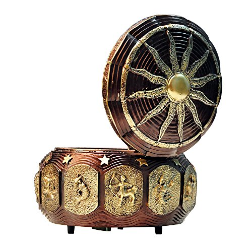 GnD Vintage Mechanical Classical Collectible Music Box with Sankyo 18-Note,Plays Castle in the Sky 1