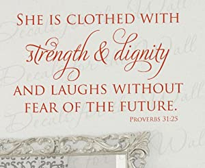 She laughs without fear of the future memes for She is clothed in strength and dignity tattoo