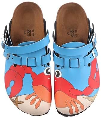 Amazon.com: Birki's Unisex - Child Kay Crab Blue Nubuck Clogs 42 N Eu