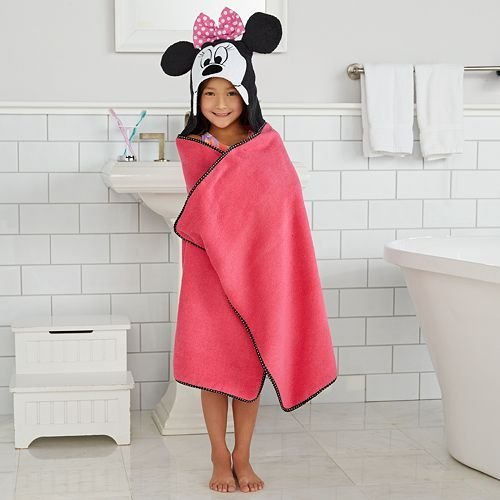 """Disney Minnie Mouse Hooded Bath Wrap"" 25 In. X 50 In (63.5 Cm X 127 Cm)"