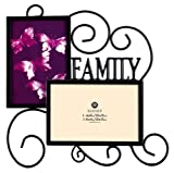 Burnes of Boston PS117464 Family Wire 2 Opening Picture Frame, Black