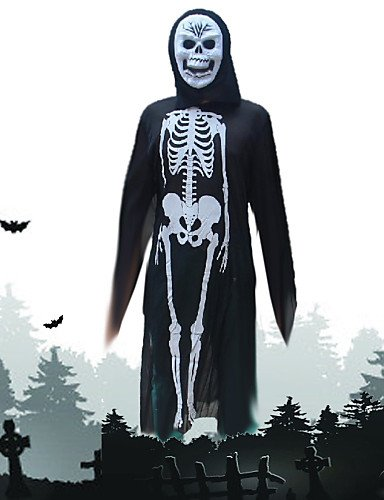 [XINHAOK Halloween Costumes The Skeleton Ghost Costumes , black and white] (Funny Weird Halloween Costumes)