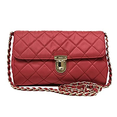 c299a74a8add Prada Tessuto Impuntu Pattina Crossbody Bag - Red. Prada Rosso Red Tessuto  Impuntu Pattina Nylon ...