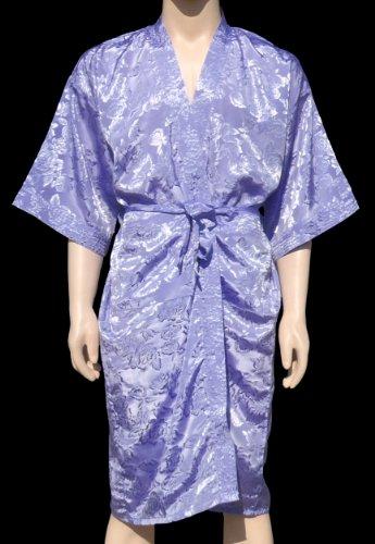 Ardesia, colore blu kimono vestaglia accappatoio notte cappotto Satin Thai Robe cappotto nuovo/disponibile In 18colori