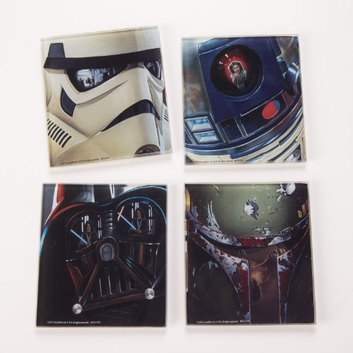 Vandor 99285 Star Wars 4 Pc Glass Coaster Set, Multicolor